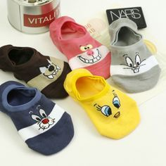 """Universe of goods - Buy """"Summer Cartoon Cotton Thin Women Boat Socks Creative Casual Cotton Funny Animals Socks for Female Cute Kawayi Girls New Acrylic"""" for only USD. Invisible Socks, Invisible Man, Funny Socks, Cute Socks, Women's Socks, Baby Socks, Summer Cartoon, Cute Cartoon, Sock Animals"""