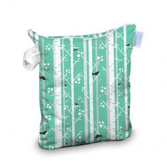 Care for your cloth diapers on the go with the Thirsties Wet Bag! Fashionable, yet practical, this bag is the perfect solution for temporary storage of soiled cloth diapers. This bag is slim enough to fit in your diaper bag and is suitable storage for a full day away from home. The Thirsties Wet Bag can hold up to eight diapers and is great for toting wet swimwear, clothes and towels. Waterproof PUL and fully-taped waterproof seams prevent leakage keeping everything in your bag dry. The…