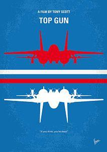 No128 My Top Gun Minimal Movie Poster Poster by Chungkong Art