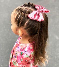 Easy Toddler Hairstyles, Easy Little Girl Hairstyles, Girls Hairdos, Cute Girls Hairstyles, Braided Hairstyles, Top Hairstyles, Hairstyle For Kids, Braids For Little Girls, Hairstyles For Toddlers