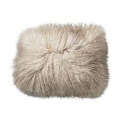 Neutral Sheepskin Pillow Natural Mongolian Fur Pillow Nordic Design Minimalist Scandinavian Decor Farmhouse Decor Housewarming Gift for Her Modern Throw Pillows, Fur Throw Pillows, Faux Fur Throw, Floor Pillows, Decorative Pillows, Accent Pillows, Mongolian Fur Pillow, Muuto, Ideas