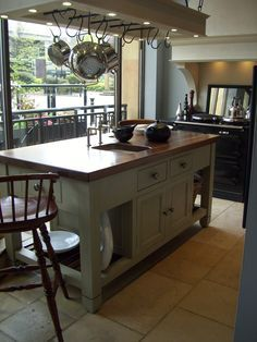 Classic Chalon Worktable at Harrogate New Kitchen Designs, Kitchen Ideas, French Country Kitchens, Furniture Design, Gallery, Narrowboat, Tiny Homes, House, Devon