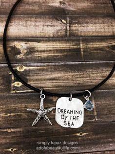 Mermaid Necklace: Dreaming of the Sea Necklace, Beach Necklace, Beach Jewelry, Personalized Jewelry, Sand Dollar Jewelry, Birthstone Jewelry by simply topaz | https://www.etsy.com/listing/252901031/mermaid-necklace-dreaming-of-the-sea