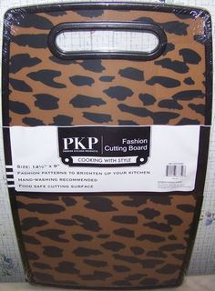 Leopard Print African Safari Animal Kitchen Plastic Cutting Board 9,71€