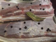Hellena ...din bucataria mea...: Slanina fiarta in zeama de varza Panna Cotta, Fish, Meat, Dulce De Leche, Pisces