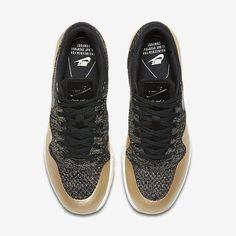 new styles 99316 fe94b Chaussure Nike Air Max 1 Pas Cher Femme Ultra 2 0 Flyknit Metallic Noir  Etoile Dor