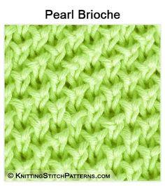Knitting Stitch Patterns - Brioche Knitting: Pearl Brioche stitch.