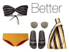 """Better II"" by anaelle2 ❤ liked on Polyvore featuring Solid & Striped, Made By Dawn, Givenchy, STELLA McCARTNEY and Ray-Ban"