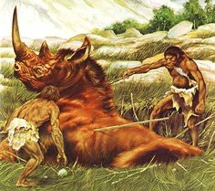 cavemen hunting