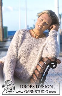 Pullover pattern by DROPS design Free Knitting Patterns For Women, Sweater Knitting Patterns, Cardigan Pattern, Scarf Patterns, Knitting Tutorials, Big Knits, Moda Emo, Drops Design, Knit Crochet