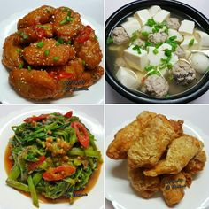 Fried Chicken Mid-wings in Korean Spicy sauce (韩式辣酱鸡中翅) Tofu, minced meatball soup (豆腐肉丸汤) Stir-fried Sambal Kangkong (马来风光) Crispy chicken with Beancurd wrapping (腐皮包脆鸡) . . . . . . #sgfood #sg #dinnertime #dinner #homecooked #homemade #chickenwings #hotsauce  #tofu #chicken  #meatballs  #soup #vegetables  #veggies #sambal #kangkong #beancurd  #crispy #family #loveones  #happy #familymeal