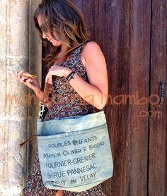 Bolso de tela de petate en mambonamambo.com