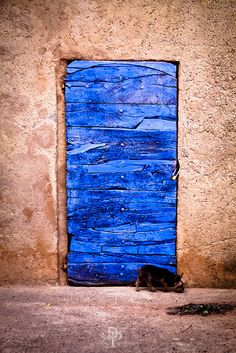Sniffing around Bluebeard's secret door in Roussillon, Provence-Alpes-Cote d'Azur, France