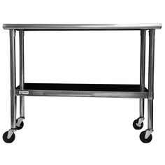 <li>Stainless Steel Table with Caster Kit</li><li>Intended use: Hold items</li><li>Materials: Stainless steel, rubber casters</li>