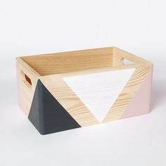 Geometric wooden box with handles - happylittlefolks - 4