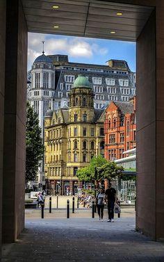 Manchester, England, United Kingdom, photograph by Peter (Blackburn Beautiful Buildings, Beautiful Places, Midland Hotel, Places In England, England And Scotland, England Uk, Manchester England, Salford, British Isles