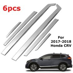 Stainless Steel Car Door Side Body Mouldings Cover Trim For Honda CRV 2017-2018