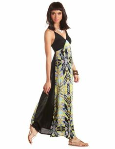 Strappy Abstract Print Maxi Dress: Charlotte Russe