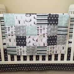buffalo crib bedding boy crib bedding set rustic baby boy quilt