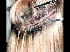 How to sew in a weave on Euro Caucasian Hair - YouTube