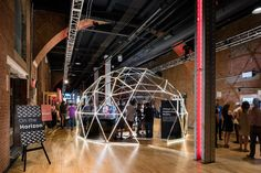 """The event was divided into four different zones that each had immersive experiences based on the zone's theme. The """"On the Horizon"""" zone had a geodesic dome that housed virtual-reality experiences from different companies."""