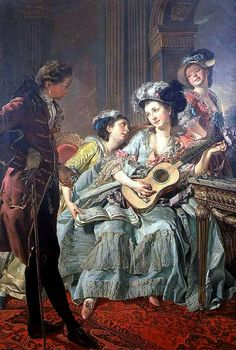 Women Rejecting Marriage Proposals In Western Art History  what no im totally listening this is my listening guitar im playing my listening song