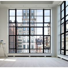 New York apartment home ❤ liked on Polyvore featuring home, home decor, rooms, empty rooms, backgrounds and windows