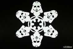 How to Make Star Wars Snowflakes (with 3 Sample Snowflake Templates)