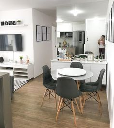 Home Room Design, Living Room Designs, Living Room Decor, House Design, Living Dining Combo, Small Apartment Interior, Home Decor Kitchen, House Rooms, Home And Living