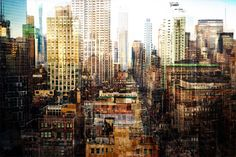 Manhattan's Skyscapers Get A Turner-Esque Makeover In These Multilayered Photographs by Florian Mueller