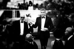 Gravity premiere - August 28 2013  George Clooney was dressed in a Giorgio Armani black tuxedo.