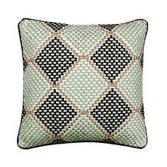 "Designer Throw Pillow Cover 16""x 16"" Embroidered Couch Cushion Cotton Pattern Throw Pillow Cover Contemporary Style - Diamond Dotty Blue Bedroom Decor, Blue Home Decor, Blue Pillow Covers, Blue Throw Pillows, Embroidered Pillows, Couch Cushions, Handmade Home Decor, Designer Throw Pillows, Contemporary Style"