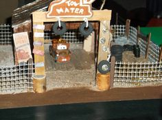 Radiator Springs playset diorama!: Parts 1,2, and 3 - Some brilliant diy ideas here!