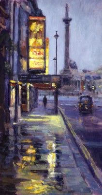 British Artist David FARREN-First Light, Towards Trafalgar Square