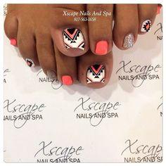 Aztec Nails - Instagram media by xscapenails #nail #nails #nailart