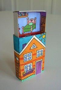 upper floor smart fix-matchbox house Matchbox Crafts, Matchbox Art, Altered Tins, Altered Art, Diy For Kids, Crafts For Kids, Box Houses, Tiny Houses, Paper Toys