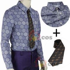 Batman cosplay Joker cosplay The Dark Knight Joker cosplay camisa + Corbata por encargo