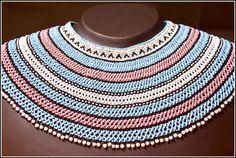 Mfengu beadwork collar (c) MAXHOSA BY LADUMA Bead Jewellery, Beaded Jewelry, Beaded Necklace, Necklaces, African Accessories, African Jewelry, African Style, African Fashion, Xhosa Attire