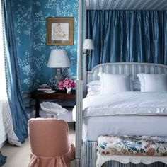Stripes, chintz, velvet, silk taffeta, and Gracie paper - literally what dreams…