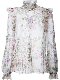 Shop Giambattista Valli floral print blouse.