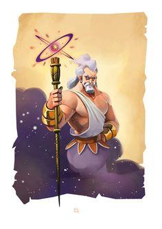 Uranos deus primordial personificava o  céu era filho da própria terra, Gaia, e neto do Caos