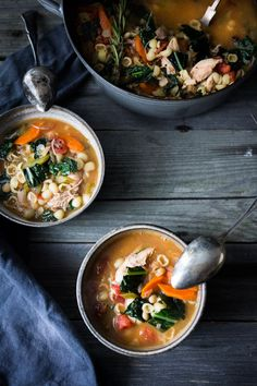 Turkey Minestrone Soup- A cozy soup to make the day after Thanksgiving using leftover turkey and simple pantry ingredients. | www.feasingathome.com