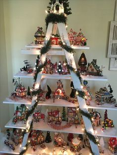 Creative Christmas DIY Decorations Easy and Cheap – Festive Ladders Creative Christmas DIY Decorations Easy and Cheap Christmas Tree Village Display, Cheap Christmas Trees, Christmas Candle Decorations, Christmas Villages, Christmas Home, Xmas Tree, Christmas Christmas, Christmas Wreaths, Christmas Ornaments