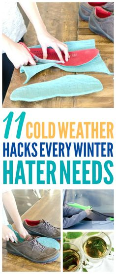 These 11 cold weather hacks are THE BEST! I'm so glad I found these AWESOME tips! Now I have some great ways to survive winter, stay warm, and get the ice off my car! Definitely pinning! #winter #coldweather #coldweatherhacks #coldweathertips