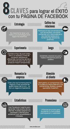 8 claves para lograr el éxito con tu página de Facebook #Infografía