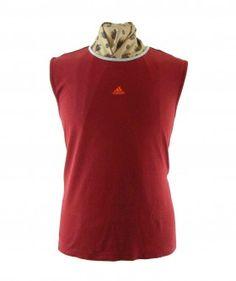 """Red Adidas Vest #vintagefashion #vintage #retro #vintageclothing #90s #1990s #vintagetshirts <link rel=""""canonical"""" href=""""http://www.blue17.co.uk/>"""