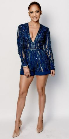 Look of the Day - March 22, 2015 - Jennifer Lopez/American Idol - Romper Outfit from #InStyle