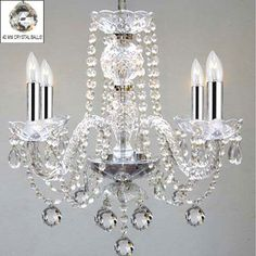 Murano Venetian Style All Empress Crystal