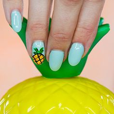 Warning: Adorable Pineapple Nail Art Ahead: Pineapples are so trendy these days.