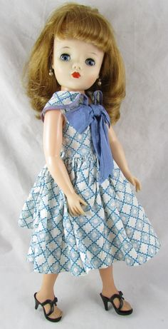 "17"" Margie Fashion Doll Revlon Type Belle Co. Cissy Face Dress from adolladay on Ruby Lane"
